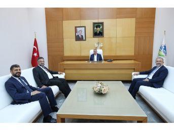 Başkan Toçoğlu, Saü Rektörü Savaşan İle Bir Araya Geldi