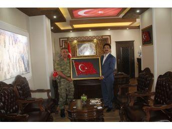 Albay Abaşlıoğlu'ndan Kaymakam Öztürk'e Veda Ziyareti