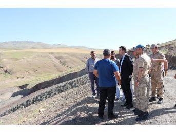 Başkan Vekili Vardar, Sulama Göleti İnşaatını İnceledi