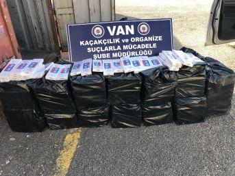 Van'da 9 Bin Paket Kaçak Sigara Ele Geçirildi
