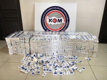 Otobüsteki Merdivene Saklanan 4 Bin 500 Kaçak Sigara Ele Geçirildi