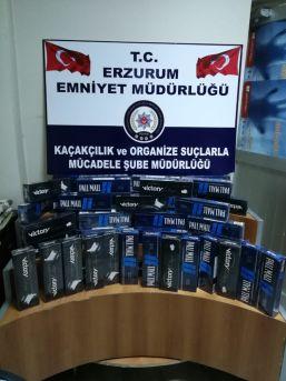 Erzurum'da 2 Bin 60 Paket Kaçak Sigara Ele Geçirildi