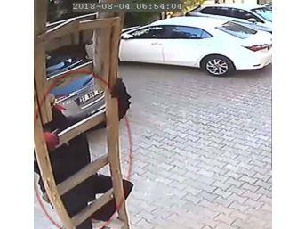 Örümcek Adam Gibi Hırsız Güvenlik Kameralarına Yakalandı