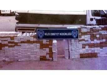 Kilis'te 111 Bin 500 Paket Kaçak Sigara Yakalandı