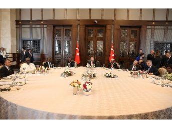Cumhurbaşkanı Erdoğan, Devlet Başkanları Onuruna Yemek Verdi