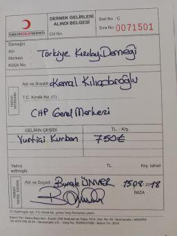 Kılıçdaroğlu, Kurban Vekaletini Türk Kızılayı'na Verdi