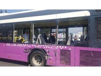 Otobüs İle Beton Mikseri Çarpıştı: 3 Yaralı