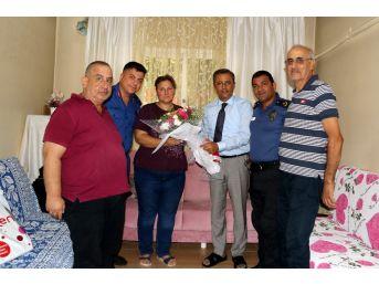 Başkan Pamuk, Şehit Ailelerini Ziyaret Etti