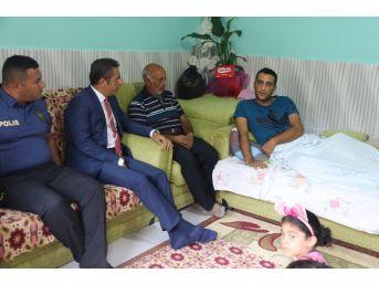 Başkan Pamuk'tan Gazi Ve Ailesine Ziyaret