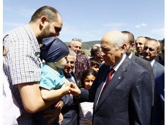 Mhp Lideri Bahçeli Ülkücü Şehitler Anıtı'nı Ziyaret Etti