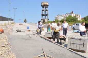 Tepeköy Mahallesinde yol çalışması devam ediyor