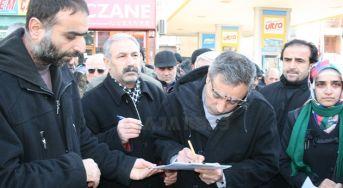 Elazığ'da Öcalan için imza kampanyası